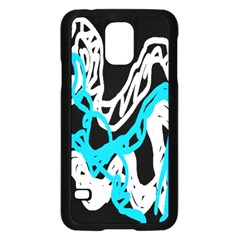 Tangled Rope Blue White Samsung Galaxy S5 Case (black)