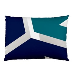 Tri Star Flag Pillow Case (two Sides) by AnjaniArt