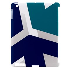 Tri Star Flag Apple Ipad 3/4 Hardshell Case (compatible With Smart Cover)