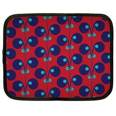 Texture Bright Circles Netbook Case (xl)  by AnjaniArt