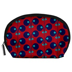 Texture Bright Circles Accessory Pouches (large)  by AnjaniArt