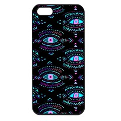Third Eye Purple Apple Iphone 5 Seamless Case (black) by AnjaniArt