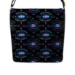 Third Eye Purple Flap Messenger Bag (l)
