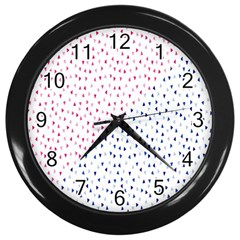 Triangle Red Blue Wall Clocks (black) by AnjaniArt