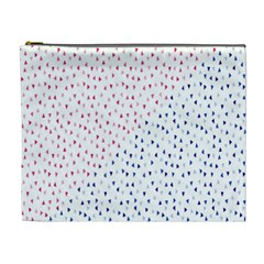 Triangle Red Blue Cosmetic Bag (xl)