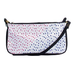 Triangle Red Blue Shoulder Clutch Bags