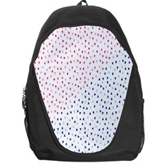 Triangle Red Blue Backpack Bag