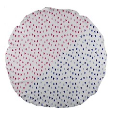 Triangle Red Blue Large 18  Premium Round Cushions by AnjaniArt