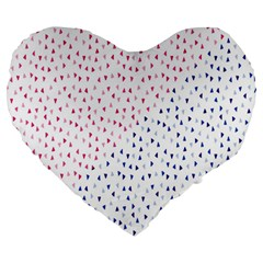 Triangle Red Blue Large 19  Premium Heart Shape Cushions by AnjaniArt