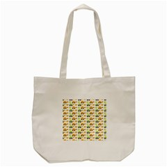 Turtle Green Yellow Flower Animals Tote Bag (cream) by AnjaniArt