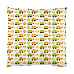 Turtle Green Yellow Flower Animals Standard Cushion Case (two Sides) by AnjaniArt