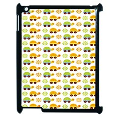 Turtle Green Yellow Flower Animals Apple Ipad 2 Case (black)