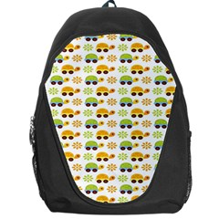 Turtle Green Yellow Flower Animals Backpack Bag