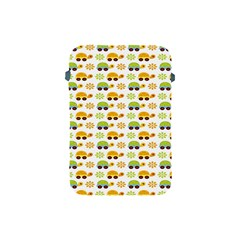 Turtle Green Yellow Flower Animals Apple Ipad Mini Protective Soft Cases by AnjaniArt