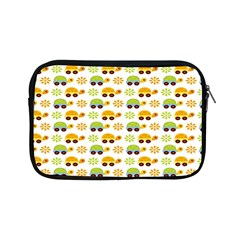 Turtle Green Yellow Flower Animals Apple Ipad Mini Zipper Cases by AnjaniArt