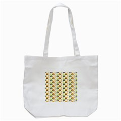 Turtle Green Yellow Flower Animals Tote Bag (white) by AnjaniArt