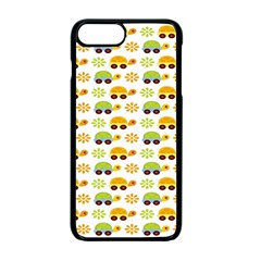 Turtle Green Yellow Flower Animals Apple Iphone 7 Plus Seamless Case (black) by AnjaniArt