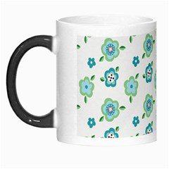 Valentine Chevron Papers Flower Floral Green Flowering Morph Mugs by AnjaniArt