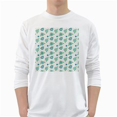 Valentine Chevron Papers Flower Floral Green Flowering White Long Sleeve T Shirts