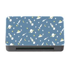 Twiddy Space Saturnus Plane Star Month Rocket Blue Sky Memory Card Reader With Cf by AnjaniArt