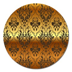 Vintage Gold Gradient Golden Resolution Magnet 5  (round) by AnjaniArt