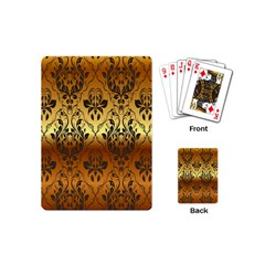 Vintage Gold Gradient Golden Resolution Playing Cards (mini)