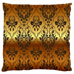 Vintage Gold Gradient Golden Resolution Large Cushion Case (two Sides)