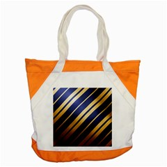 Wave Blue Gold Accent Tote Bag