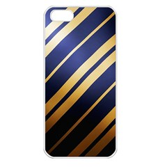 Wave Blue Gold Apple Iphone 5 Seamless Case (white)