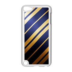 Wave Blue Gold Apple Ipod Touch 5 Case (white)