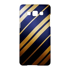 Wave Blue Gold Samsung Galaxy A5 Hardshell Case  by AnjaniArt