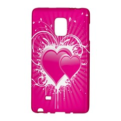 Valentine Floral Heart Pink Galaxy Note Edge by AnjaniArt