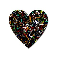 Wave Zig Zag Heart Magnet by AnjaniArt