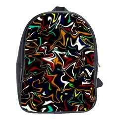 Wave Zig Zag School Bags(large)  by AnjaniArt