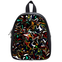 Wave Zig Zag School Bags (small)  by AnjaniArt