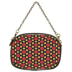 Tiling Flower Star Red Chain Purses (one Side)  by AnjaniArt