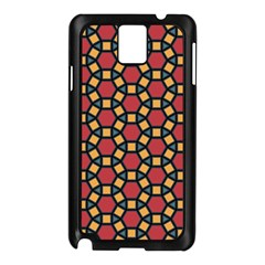 Tiling Flower Star Red Samsung Galaxy Note 3 N9005 Case (black)