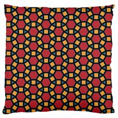 Tiling Flower Star Red Standard Flano Cushion Case (one Side)
