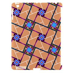 Wallpaper Overlaid Brown Line Purple Blue Box Apple Ipad 3/4 Hardshell Case (compatible With Smart Cover) by AnjaniArt