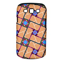 Wallpaper Overlaid Brown Line Purple Blue Box Samsung Galaxy S Iii Classic Hardshell Case (pc+silicone) by AnjaniArt