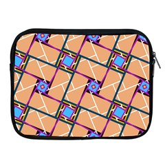Wallpaper Overlaid Brown Line Purple Blue Box Apple Ipad 2/3/4 Zipper Cases by AnjaniArt