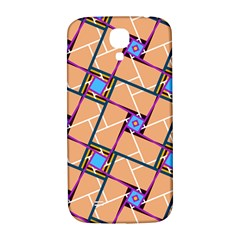 Wallpaper Overlaid Brown Line Purple Blue Box Samsung Galaxy S4 I9500/i9505  Hardshell Back Case by AnjaniArt