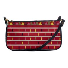 Woven Fabric Pink Shoulder Clutch Bags