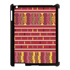 Woven Fabric Pink Apple Ipad 3/4 Case (black) by AnjaniArt