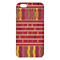 Woven Fabric Pink Iphone 6 Plus/6s Plus Tpu Case by AnjaniArt