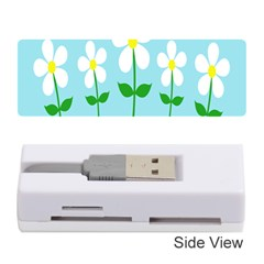 Flower Floral Blue Sky Green Leaf Memory Card Reader (stick)