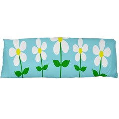 Flower Floral Blue Sky Green Leaf Body Pillow Case Dakimakura (two Sides) by AnjaniArt
