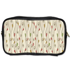 Flower Floral Leaf Toiletries Bags 2 Side by AnjaniArt