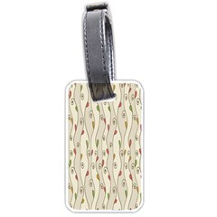 Flower Floral Leaf Luggage Tags (one Side)