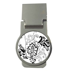 Free Floral Decorative Money Clips (round)
